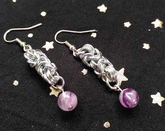 Fluorite byzantine earrings