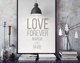 Personalized, couples Names design, Home Decor, Couple Gift, Romantic Gift, Unique Valentine, Wedding Gift