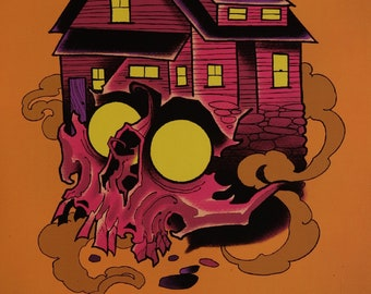 PRINT-Cabin Fever Pink Skull