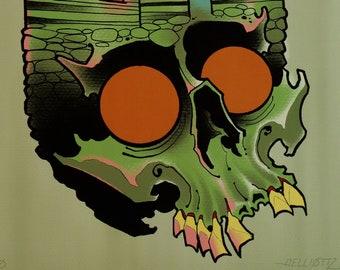 PRINT-Cabin Fever Skull