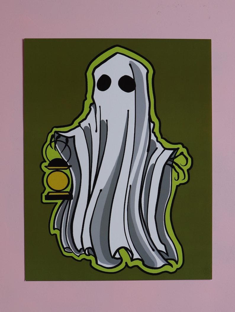 PRINT-Ghost & Lantern image 0