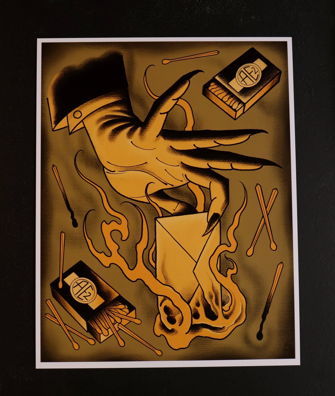 Demon Hand Burning Letter