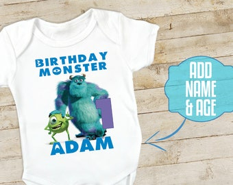 Monsters INC Birthday Shirt, Mike and Sully shirt, Monster INC shirt, 1st birthday boy onesie or t-shirt, Monster inc baby shower party