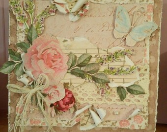 Shabby Chic Cottage Garden Card