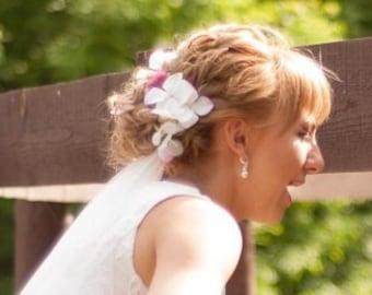 Floral Cyrstal Pearl Bridal Long Hair Vine Wedding Headband Bridal Hair Vine Flower hair vine Pearl hair vine Bohemian bridal headpiece