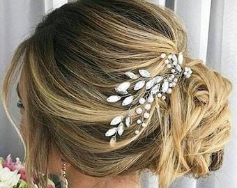 Crystal Bridal Comb, Bridal Hair Comb, Wedding Hair Piece, Prom Pageant Bridesmaid, Bridal crystal comb, Wedding Hair Accessory, Headpieces