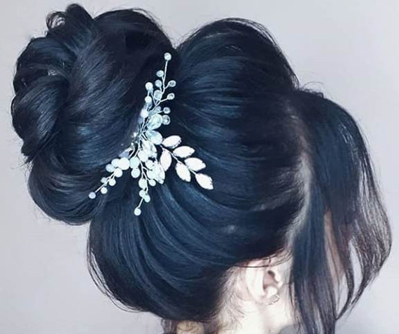 Bridal Hair Comb Crystal Hair Comb Wedding Hair Piece Bridal Hair Clip Wedding Hair Comb Silver Crystal Hair Comb Boho Wedding Hair Pins