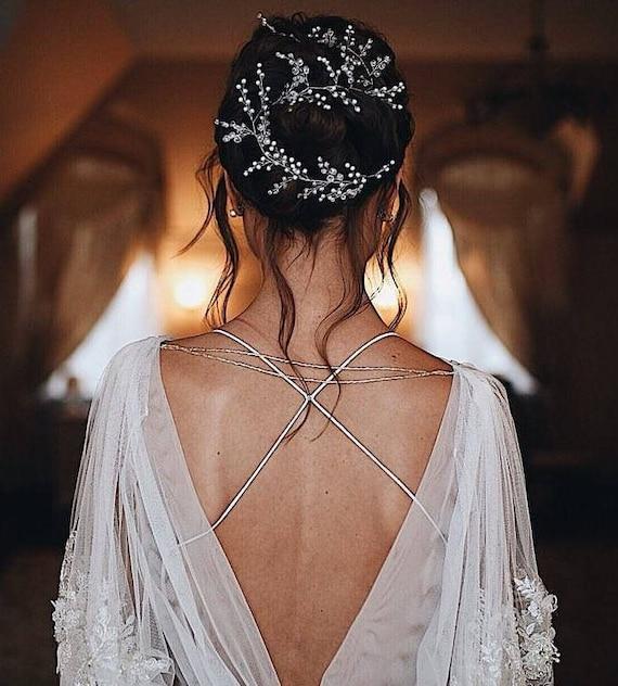 Extra Lange Haare Rebe Hochzeit Braut Haar Rebe Hochzeit Etsy