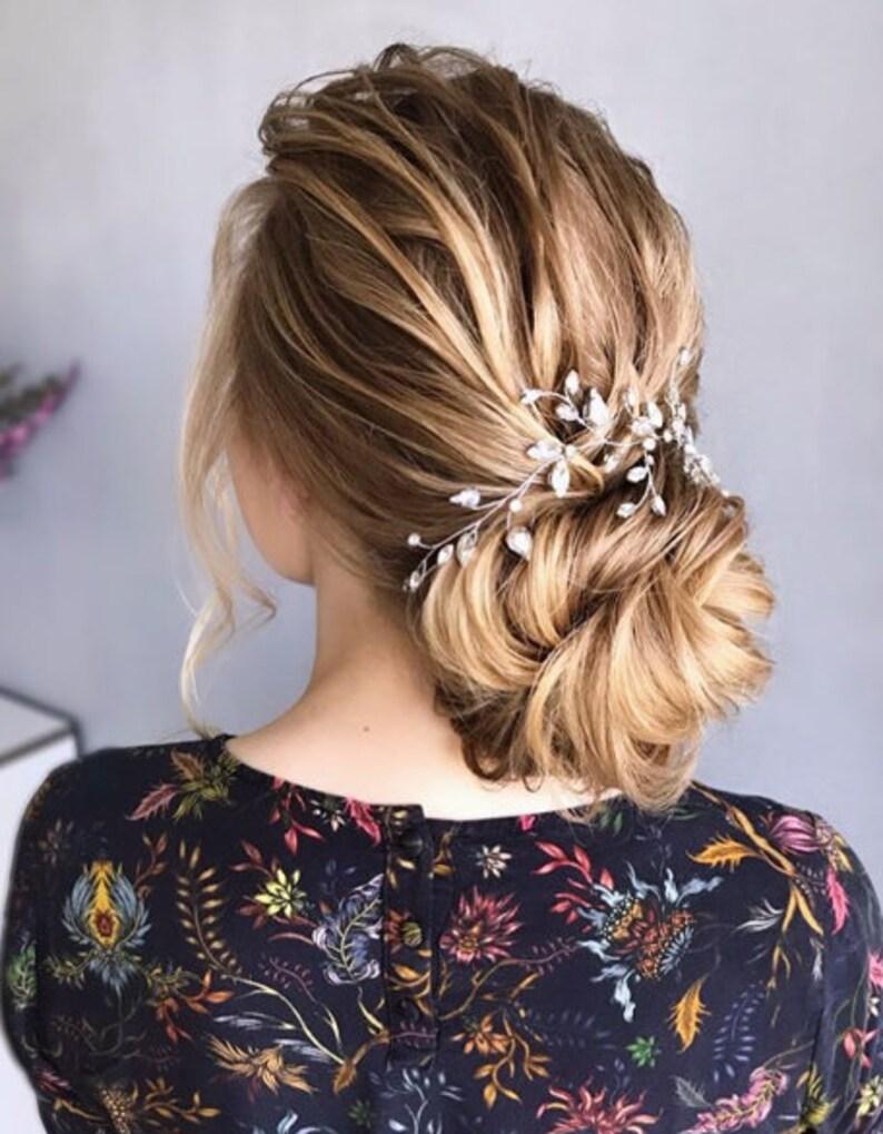 Bridal hair vine Bridal hair piece Silver Bridal Hair Accessories Wedding Hair Accessories Wedding hair piece Rose Gold Bridal hair vine