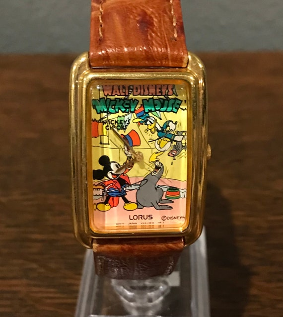 """1980's Lorus """"Mickey's Circus"""" Mickey Mouse and Do"""