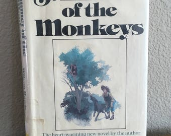 1976 First Edition Copy of Summer of the Monkeys, by Wilson Rawls- First Edition, Ex-Library Copy