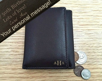 Birthday Gift For Dad O 50th Men Him Boyfriend Personalized Mens Wallet Brown 7730