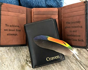 e4be4c338cbad mens wallet • leather wallet • mens gift • personalized wallet • wallet • mens  leather wallet • trifold wallet • mens • Black Toffee   7133