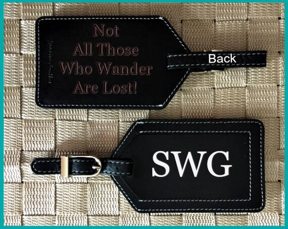 Welcome Back To School Leather Luggage Tags Personalized Extra Address Cards With Privacy Flap