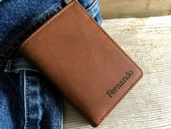 0ab61bd755c2c Personalized mens wallet trifold mens wallets RFID