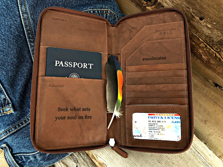 cc956c24ec64 document wallets, Personalized passport wallet men, leather travel wallet,  travel gift, passport wallet rfid, passport wallet case 7505