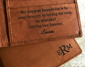 Leather wallet mens • personalized leather wallet • custom leather wallet • genuine leather wallet • monogram wallet • A.Saddle 7751 >