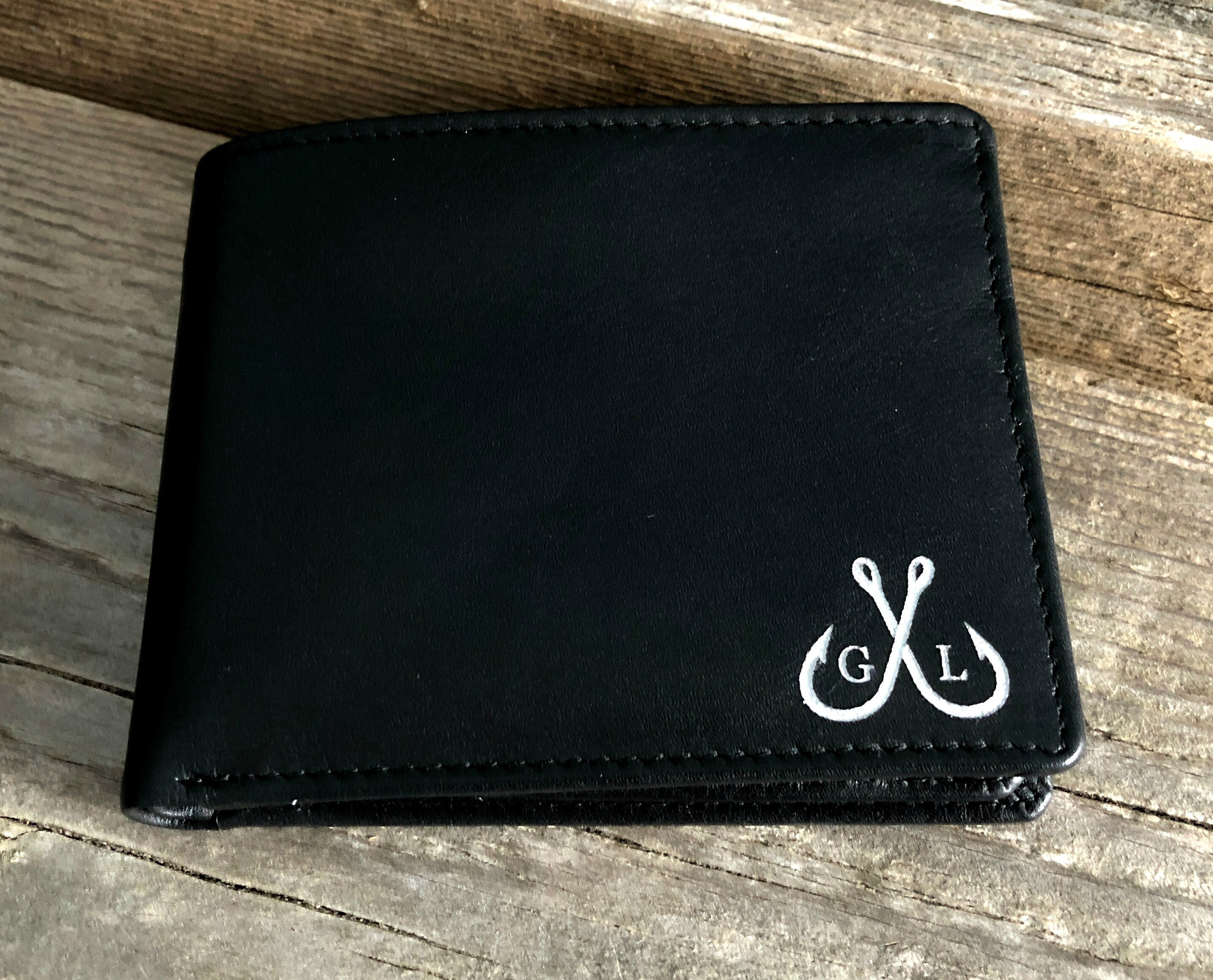 Leather wallet with money clip Its not flesh and blood but the hear that makes us father and daughter Love,enter name RFID engraving custom name or initials