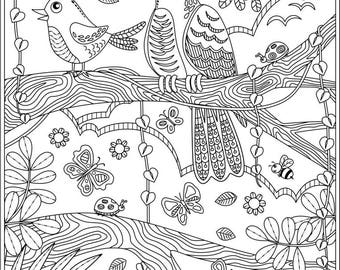 2 Printable Coloring Pages Relax And Stay Calm Plus The Version Without Texts Digital Downloads