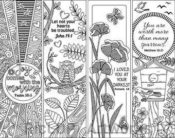 Coloring bookmarks | Etsy