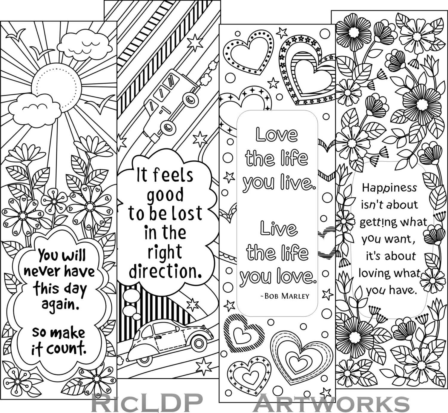 Universal image for printable quotes to color
