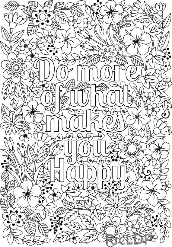 Do More of What Makes You Happy Coloring Page for Kids ...