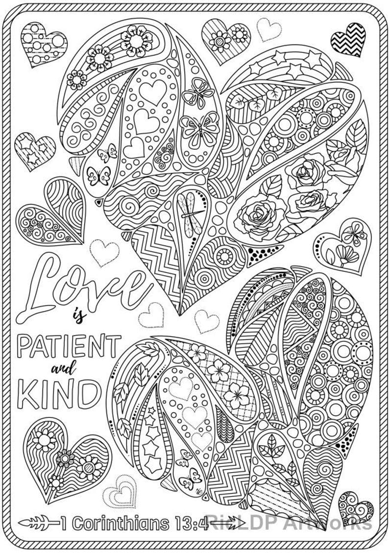 93 Bible Coloring Pages About Love Pictures