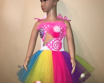 Candy Land Inspired Tutu/Candy Land Inspired Halloween Costume/Candy Land Inspired Birthday Dress With Your Choice of Headband or Bow.  sc 1 st  Etsy & Candy land costume | Etsy
