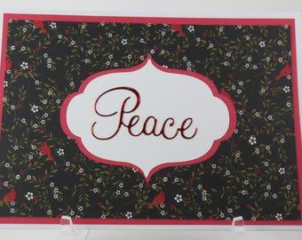 Peace Cardinal Christmas Card