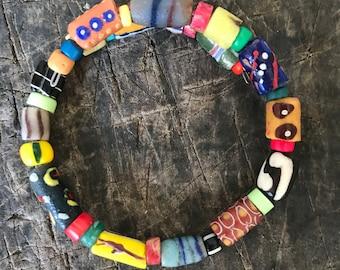 Genuine African Trade Beads Aromatherapy Stretch Adjustable Men/'s Bracelet