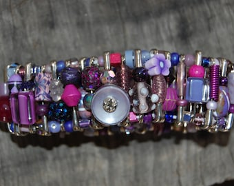 purple safety pin bracelet