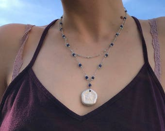 Double-Strand Gilded Sand Dollar Necklace (II)