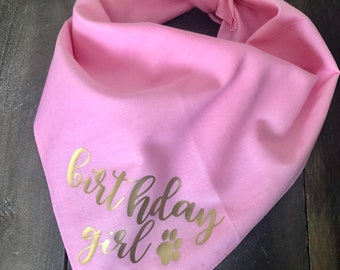 Birthday Girl Dog Bandana. Dog Birthday Bandana. Dog Birthday Party. Puppies First Birthday. Personalized Dog Bandana. Custom Dog Bandana