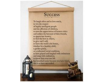 Success (To Laugh Often) - Kraft Paper Scroll - Farmhouse Scroll - Farmhouse Wall Decor - Kraft Paper Sign - Farmhouse Sign