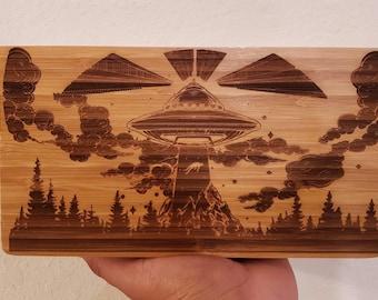 Custom Bamboo Wood Rolling Tray --Weed free shipping