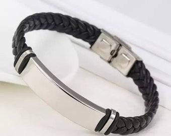 Custom Leather Cuff Bracelet