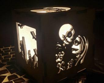 Nightmare before Christmas Wooden Nightlight, Wooden Lamp