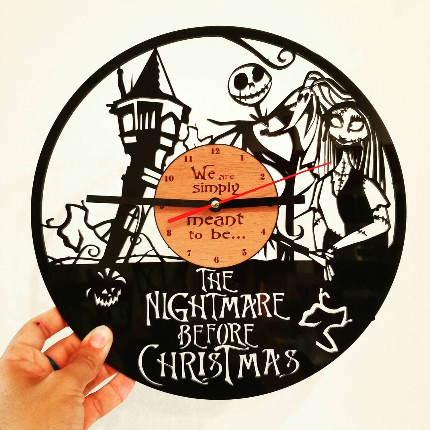Nightmare Before Christmas clock We\'re simply meant to be   Etsy