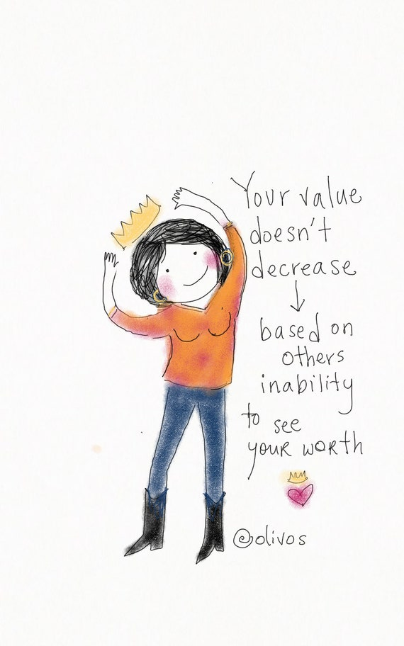 Items Similar To Encouraging Quotes Your Value Doesnt Decrease