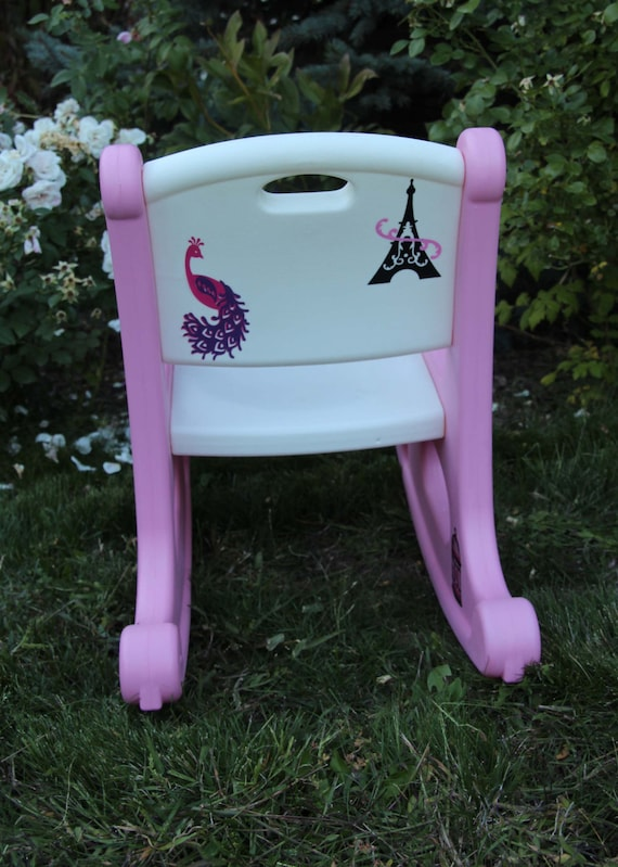 Magnificent Little Tikes Pink And White Childs Size Parisian Rocking Chair Dailytribune Chair Design For Home Dailytribuneorg