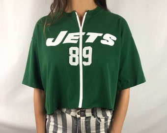 96c23d3ea Vintage New York Jets Cropped Zip-up Tee (XL)