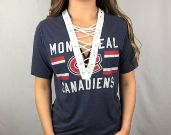 Montreal Canadians Lace-up Tee (S)