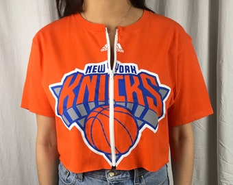 724f4f39406 Vintage New York Knicks Cropped Zip-up Tee (L)