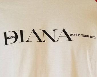 3983b1f539c DIANA ROSS  World Tour 1982  RARE-Large-Vintage-Authentic-Deadstock