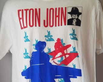 c23c6852 Elton John *Reg Strikes Back tour * 1988- MINT-XXL-Vintage -Authentic-Deadstock-Rare