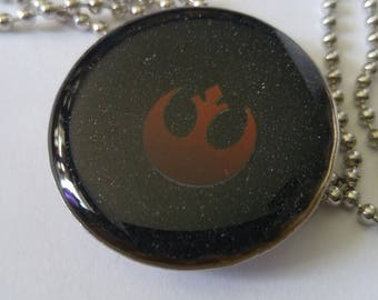 Rebel Alliance Resin Bottle Cap Necklace