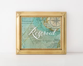 Reserved Travel Wedding Sign, Instant Download! (Printable)