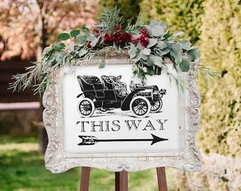 Vintage Wedding Sign for Parking (Printable)