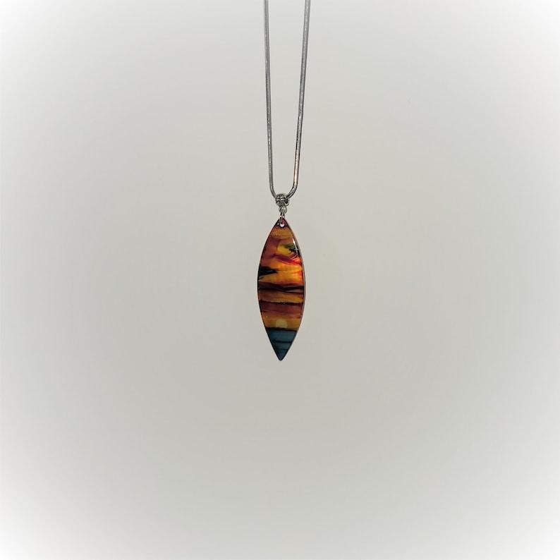 Hawaiian Sunset Surfboard Necklace