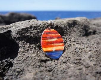 Oval Hawaiian Sunset Necklace